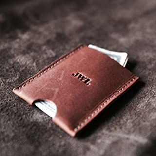 product image for The Jefferson Personalized Fine Leather Card Holder Wallet