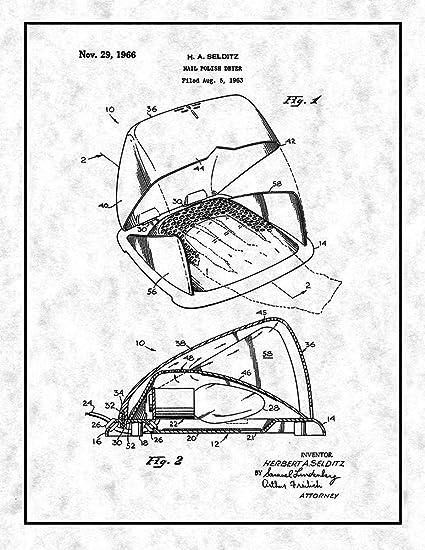 buy frame a patent 24 x 30 gunmetal nail polish dryer patent 24 X 30 Canvas frame a patent 24 x 30 gunmetal nail polish dryer patent print