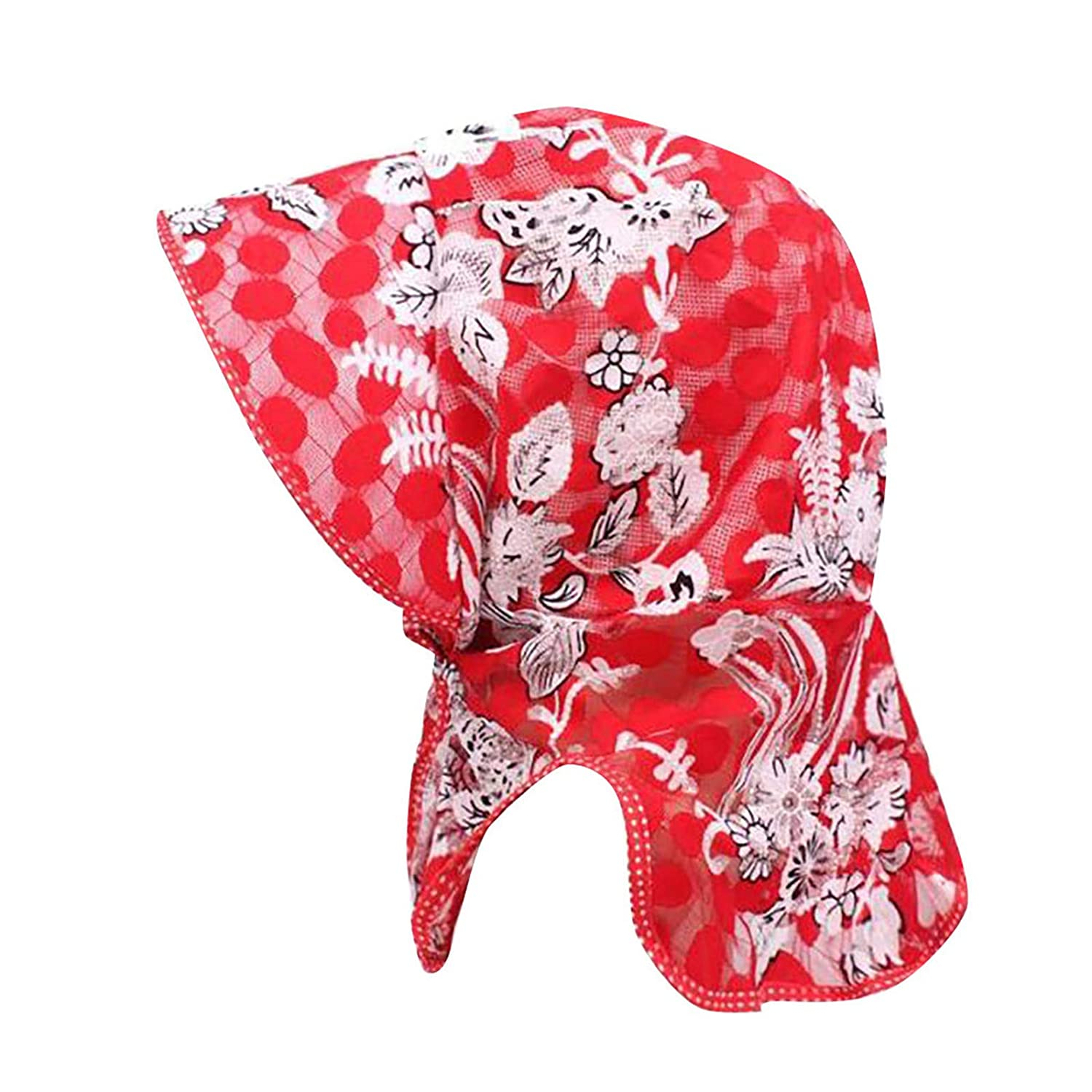 BOOBODA Womens Summer Visor Printed Hat Foldable Outdoor Activities UV Protecting Sun Hats with Neck Flap