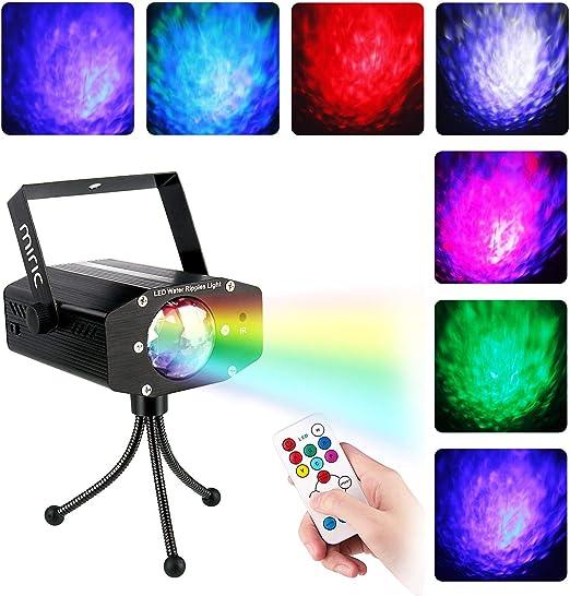 Miric 7 colores RGB ha llevado la fase proyector de luz: Amazon.es ...