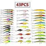 Juemenzhe ルアー 釣りルアーセット 釣具セット 43個 56個 ハードルアー 多種類 釣り初心者