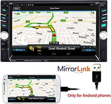 6.6 Inch 2 Din MP5 MP4 Player Touch Screen Support Rear Camera Mirror Screen for Android Phone 2 USB Port PolarLander Car Radio Bluetooth Stereo,Car Stereo,MP3 Player,Supports Hands-free Calls