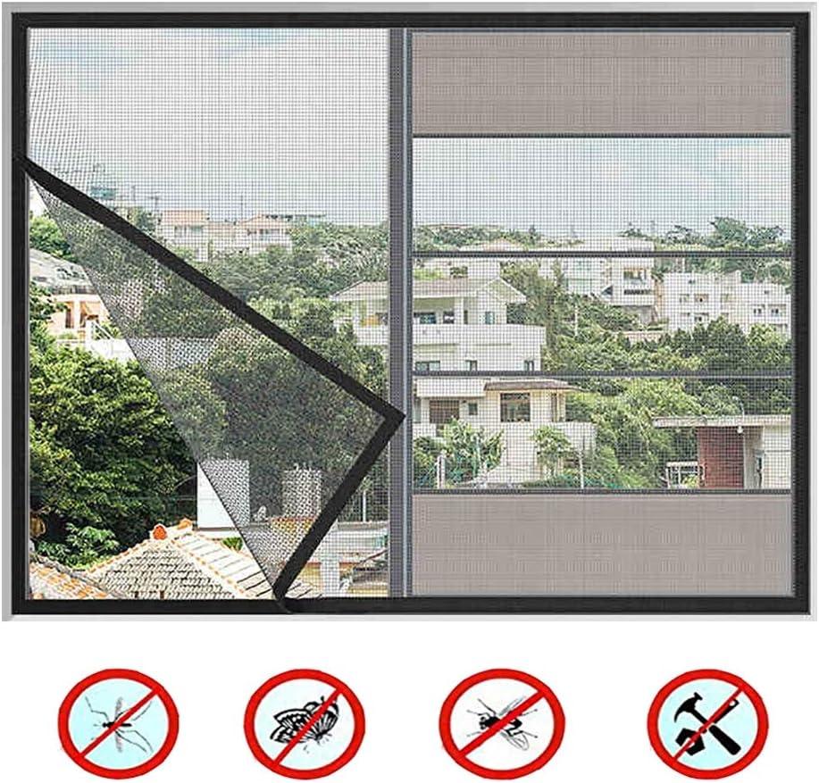 20x43inch Ruber Enrollable Mosquitera Magn/ética para Mosquitera Ventana para Protecci/ón De Insectos Cortina De Ventana,Gray,50x110cm