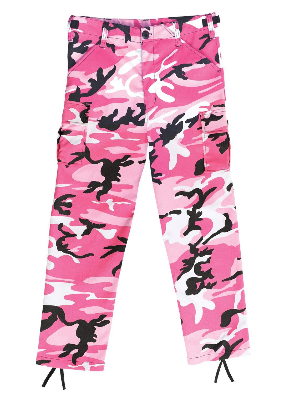 Kids BDU Pants, Pink Camo, M