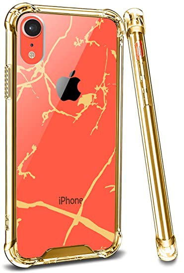 incontrare 0db62 67c84 Marble iPhone Xr Case Cover, Ansiwee Crystal Clear Shock Absorption Soft  TPU Bumper Hard Marble Pattern Designer Hybrid Protective Phone Case for ...