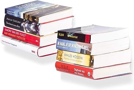 Set di 4 mensole es invisibili libreria Creativ