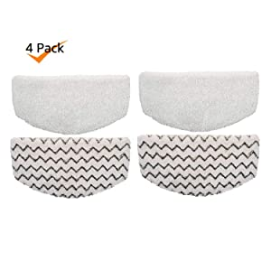 Rongbenyuan Bissell Steam Mop Pads 4 pcs for Bissell Powerfresh Steam Mop 1940 1440 1544 1806 2075 Series, Model 19402 19404 19408 19409 1940a 1940f 1940q 1940t 1940w B0006 B0017
