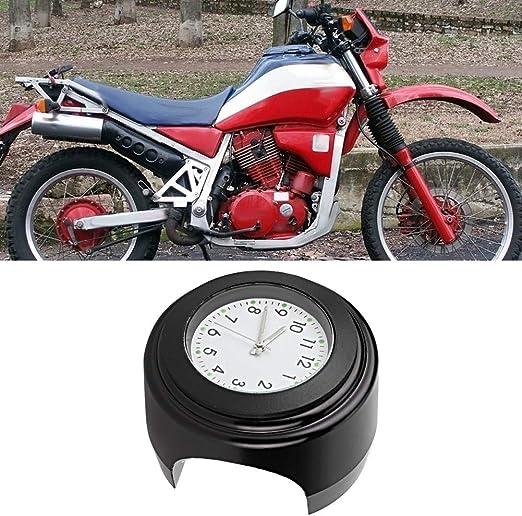 Motorrad Lenker Uhr Motorrad Modifikation Lenkerhalterung Wasserdichte Quarzuhr Uhr Zubehör Black Surface White Dial Auto