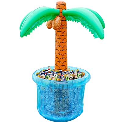 "60""Inflatable Palm Tree Cooler, Summer Swimming Party Decoration, Party Supplies for Pool Party, Tropically Themed Party Luau Party and Hawaiian Party: Toys & Games"