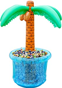"""60""""Inflatable Palm Tree Cooler, Summer Swimming Party Decoration, Party Supplies for Pool Party, Tropically Themed Party Luau Party and Hawaiian Party"""