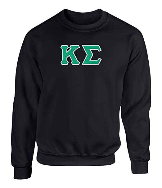 Greek Letter Before Kappa.Fashion Greek Kappa Sigma Twill Letter Crewneck Sweatshirt