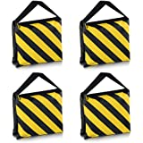 Neewer Set of Four Black/Yellow Heavy Duty Sand Bag Photography Studio Video Stage Film Sandbag Saddlebag for Light…
