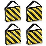 Neewer® Set von vier Schwarz / Gelb Hochleistungs Sandsack Studio Video Bühne Film Sandbag Satteltaschen für Lichtstative Ausleger Arme Stative