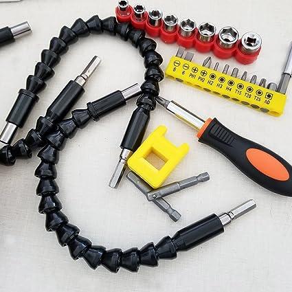 Brocas de eje flexible para destornillador de extensión, soporte ...