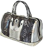 St Snake Skin Women's Handbag Clutch Bag Purse Cobra Natural White