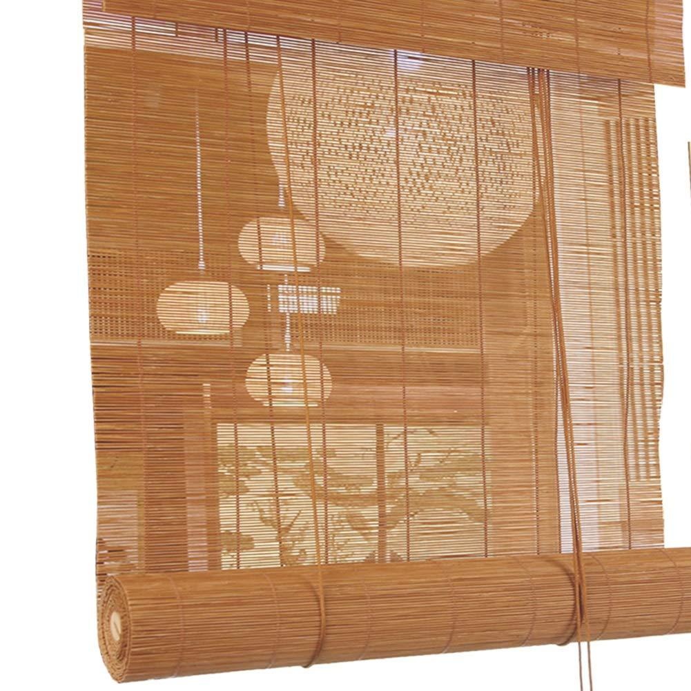 W70cm X H150cm LXLA - Persianas enrollables de bambú, - Persianas de Madera livianas para Cortinas, persianas para Ventanas y Puertas, tamaño 27 Opcional (Tamaño   W70cm X H150cm)