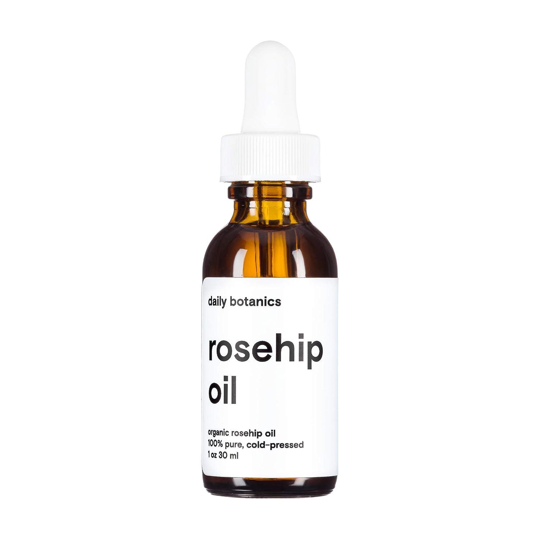 Daily Botanics Organic Rosehip Oil (1oz) –100% pure, organic, cold-pressed, and unrefined