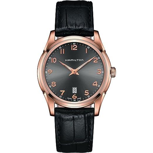 Hamilton Reloj Analogico para Hombre de Cuarzo con Correa en Cuero H38541783: Amazon.es: Relojes