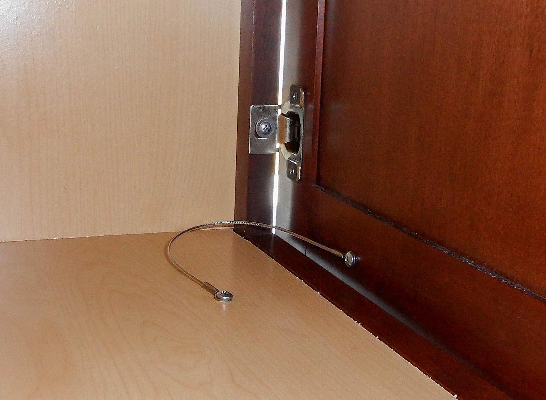 Cabinet Door Restraint 2 Pack 8 Inch Stainless Steel