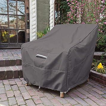Funda para sillón Individual, Protección Exterior Muebles de Jardín Cubiertas de Silla, Fundas de Muebles Impermeable Resistente al Polvo Anti-UV, 94x97x82cm: Amazon.es: Deportes y aire libre