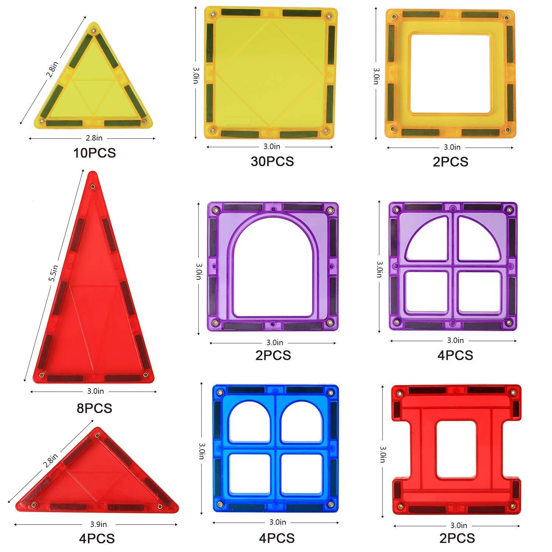 Magblock 66 PCS Magnetic Building Blocks, Magnetic Tiles for Kids Toys丨Magnet Toys Set 3D Building Blocks for Toddler Boys and Girls by Magblock (Image #5)