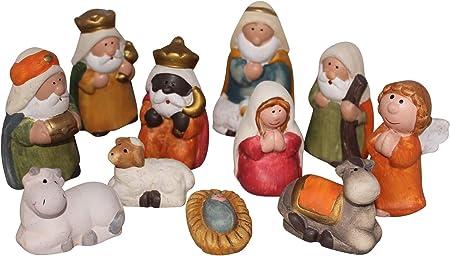 Set Di 11 Figure Presepio Di Natale 7,5cm, Presepio, Santon