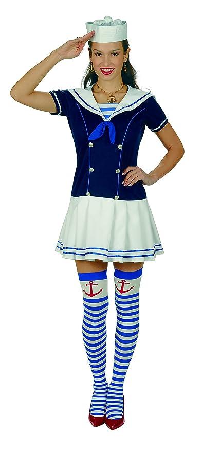 Disfraz de marinera sexy - minivestido de mujer para ...