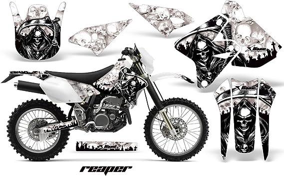 Dirt Bike Graphics Kit MX Decal Wrap For Suzuki DRZ400SM 2000-2018 REAPER SILVER