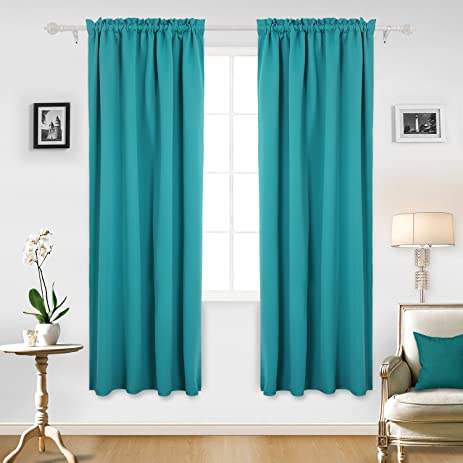 Deconovo Solid Room Darkening Curtains Rod Pocket Thermal Insulated  Blackout Curtain For Nursery Room 42W X