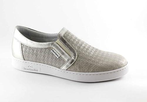 NERO GIARDINI 17256 beige scarpe donna sportive sneakers slip on