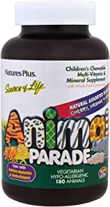 Animal Parade Children's Chewable Multi Vitamin Mineral Assorted Flavors 180 Animals