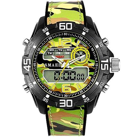 Blisfille Reloj Hombre Tela Reloj Digital Retroiluminado Relojes Digitales para Hombre Reloj para Peluqueria Reloj Hombre