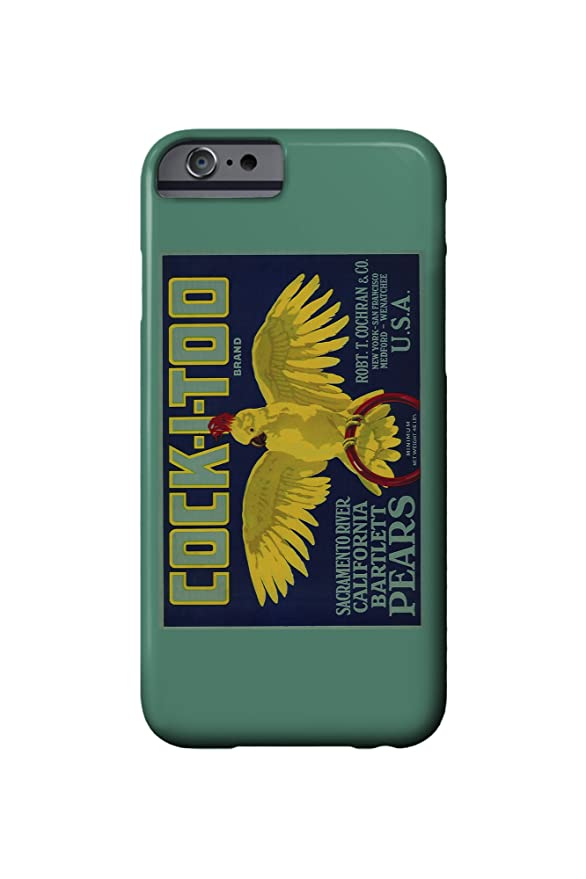 Cock-I-Too Pear - Vintage Crate Label (iPhone 6 Cell Phone ...