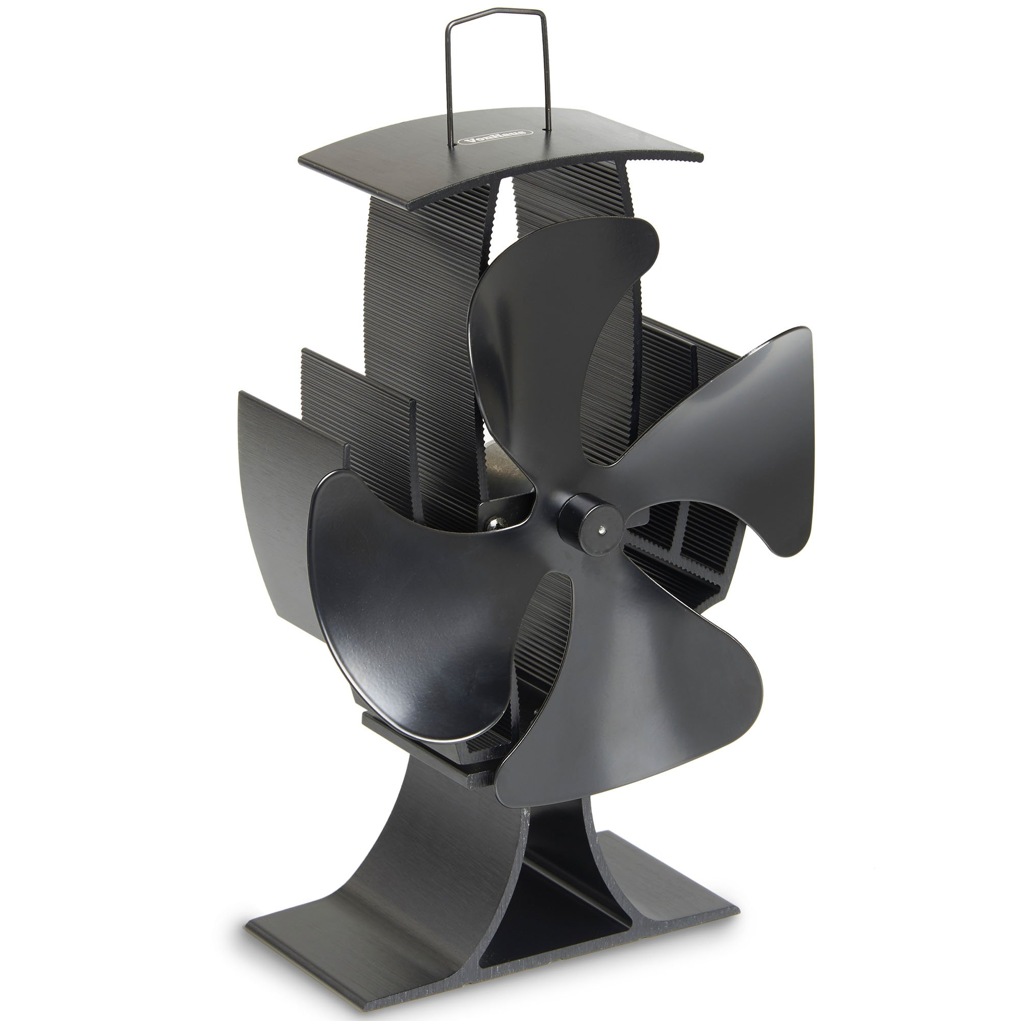 VonHaus 4-Blade Heat Powered Wood Stove Fan - Ultra Quiet Fireplace Wood Burning Eco Fan For Efficient Heat Distribution