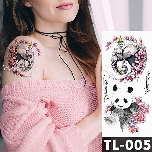 tzxdbh Atrapasueños Tatuajes de Flores Pulsera Tatuaje Temporal ...