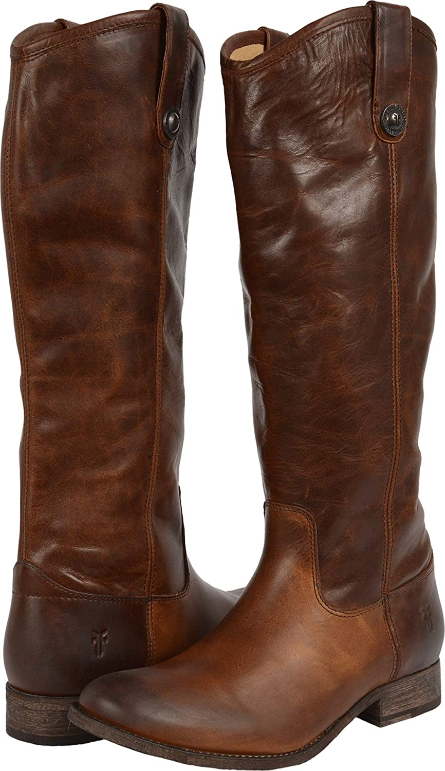 Dark Brown Extended Calf Frye Women's Melissa Button Boot