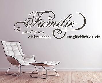 tjapalo® GR-pkm260 Wandtattoo Wohnzimmer Wandsticker Wandaufkleber ...