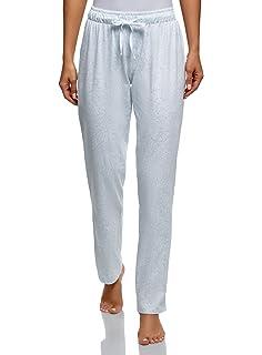 oodji Ultra Mujer Pantalones Navideños de Estar por Casa con Estampado, Azul, ES 42 / L: Amazon.es: Ropa y accesorios