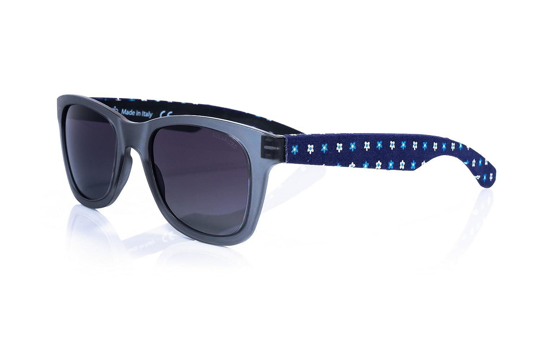 Weid–Wayfarer Lunettes de soleil en TR90UV 400–avec branches en tissu élégant avec pochette–différentes couleurs - Bleu - mmGtd