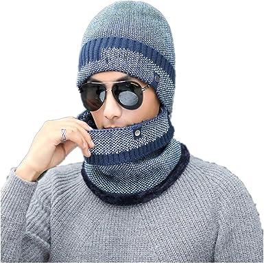 Gorro de invierno para hombre, gorro de algodón frío y cálido para ...