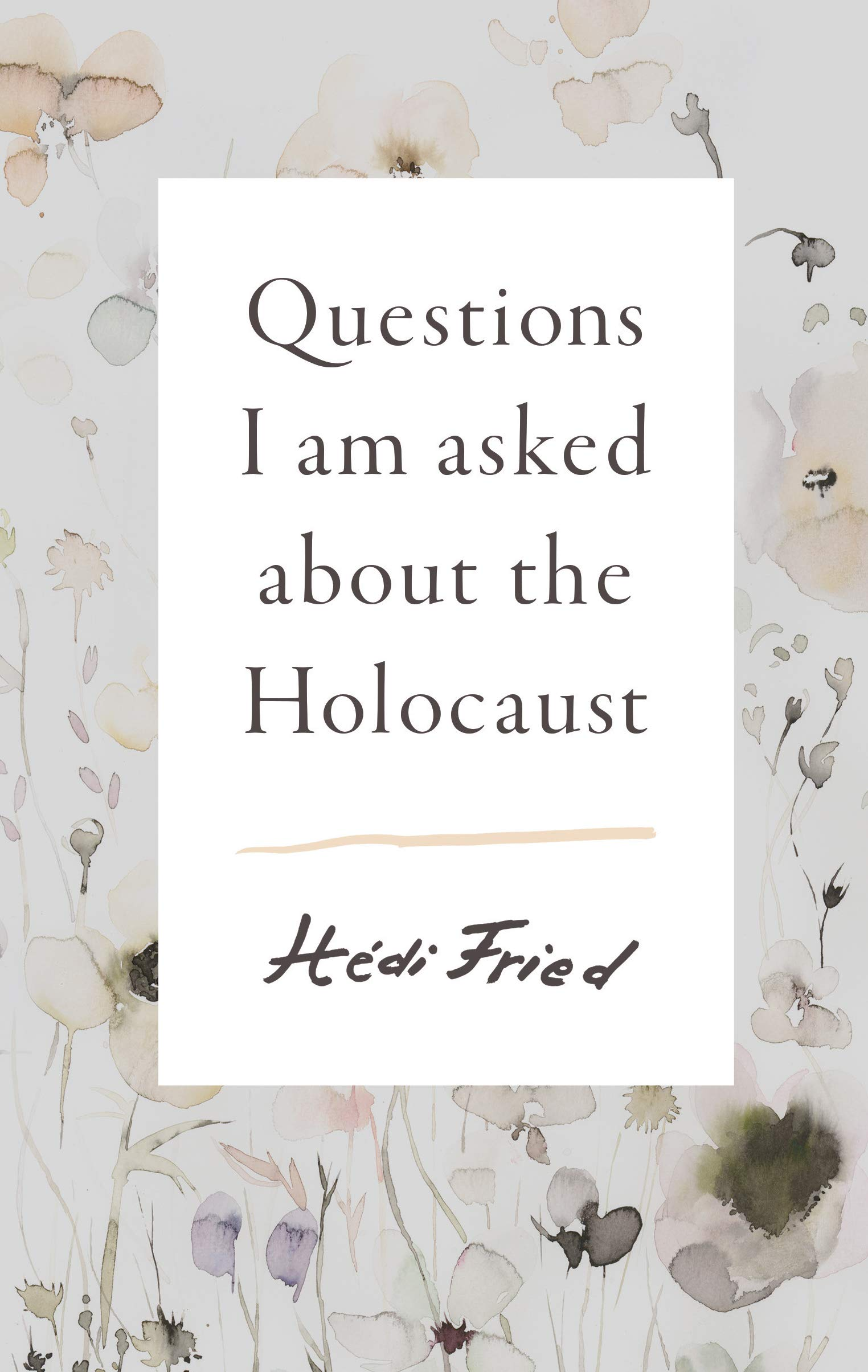 Image for Questions I Am Asked About The Holocaust