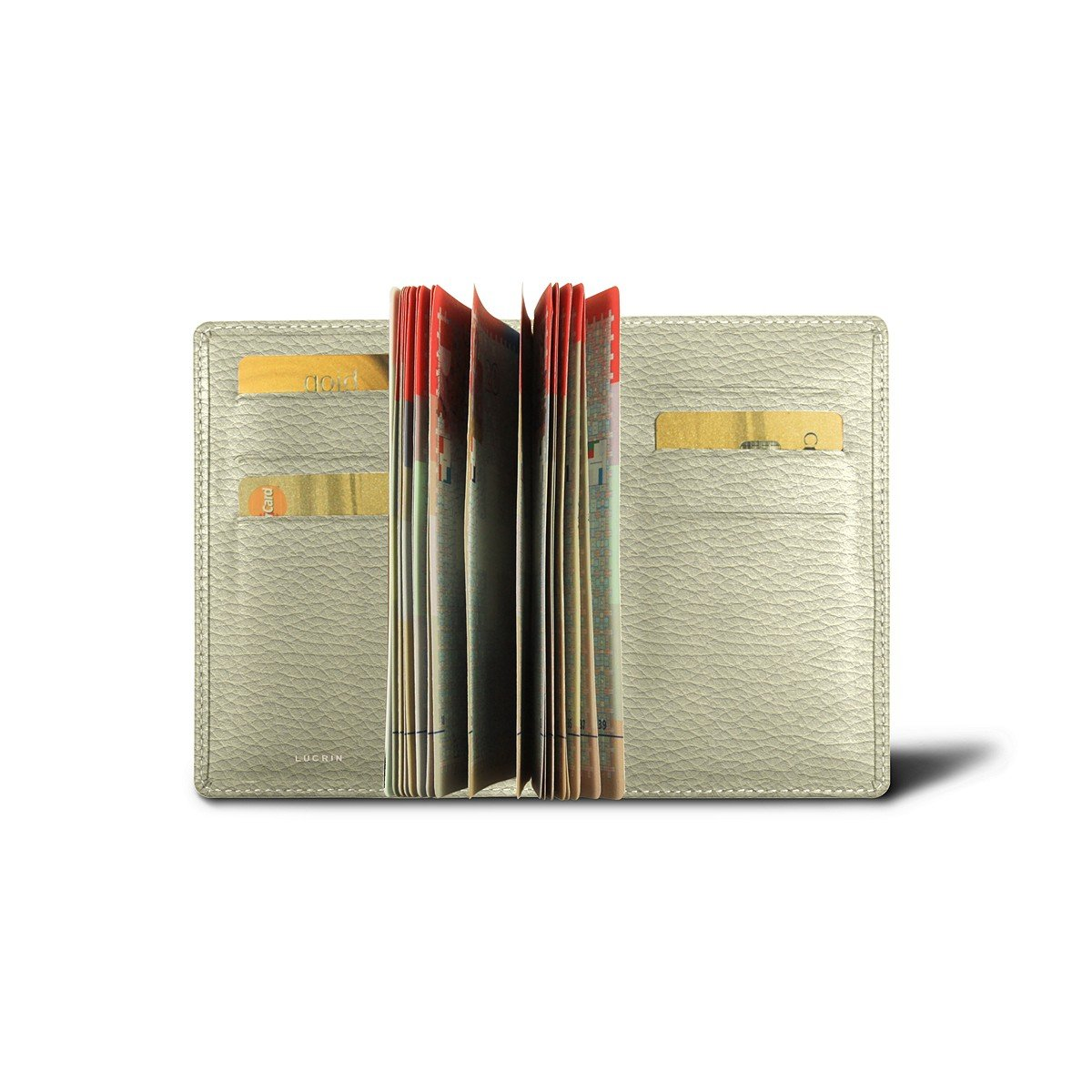 Lucrin - Luxury Passport Holder - Off-White - Granulated Leather