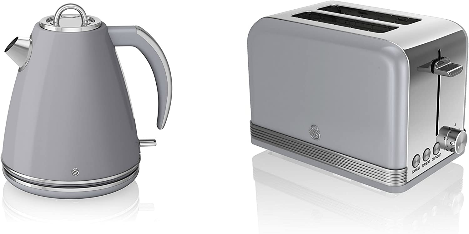 Swan, Retro Kitchen Kettle and Toaster