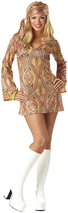 Hippie Costumes, Hippie Outfits California Costumes Womens Adult-Disco Dolly Costume $36.99 AT vintagedancer.com