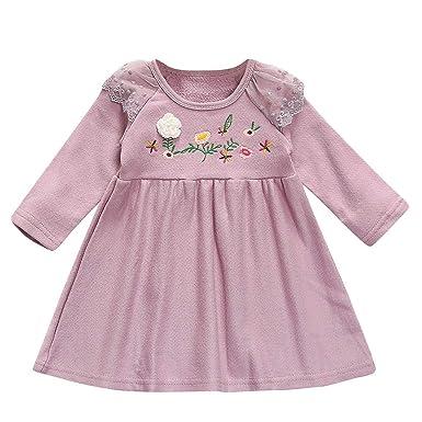 Vestido Bordado de Flores para niñas Bebe Ropa Vestido de ...