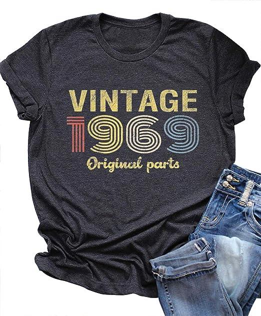 Amazon.com: Vintage 1969 Original Parte Rock Legend Camiseta ...