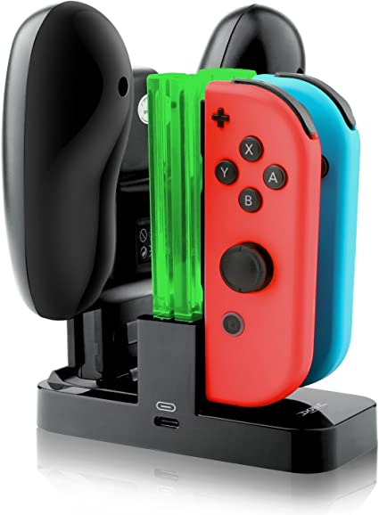 IVSO Nintendo Switch Joycon Cargador Charging Dock, Compacto Joy ...