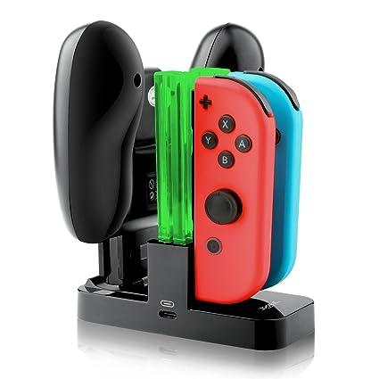 Amazon.com: joy-con Cargador, IVSO – Nintendo Switch Joy con ...