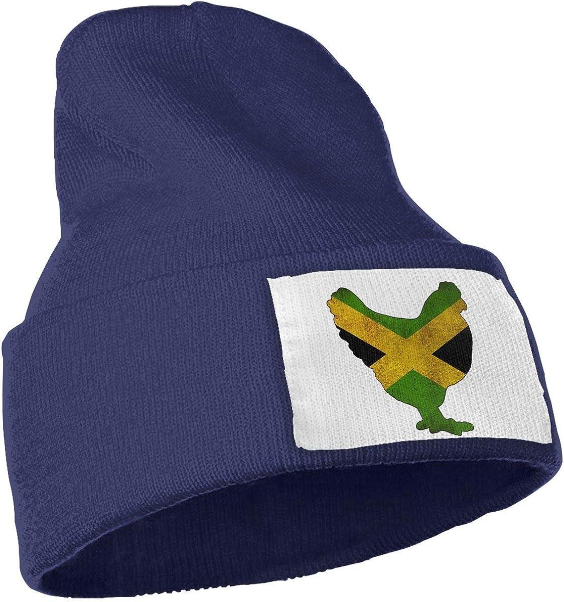 TAOMAP89 Jamaica Flag Chicken Men /& Women Skull Caps Winter Warm Stretchy Knit Beanie Hats