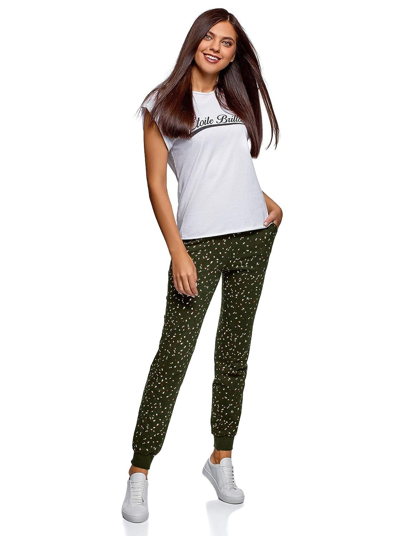 oodji Ultra Damen Jersey-Hose mit Bindeb/ändern